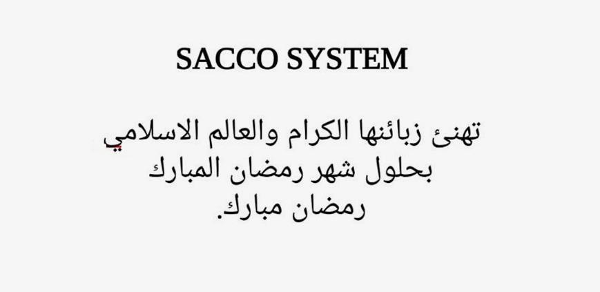 Sacco System wishes all its customers in the Muslim world a sincere wish for Ramadan.