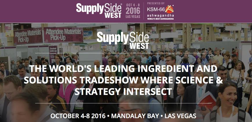 Thank you for visiting us at SupplySide West 2016 in Las Vegas 1