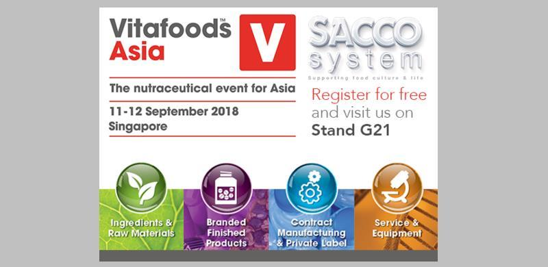 CSL at Vitafoods Asia 2018, Singapore from 11 to 12 September