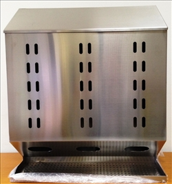 LABWARE Dispenser acc. inox a 3 scomparti